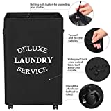 Chrislley 90L Rolling Laundry Hamper with Wheels