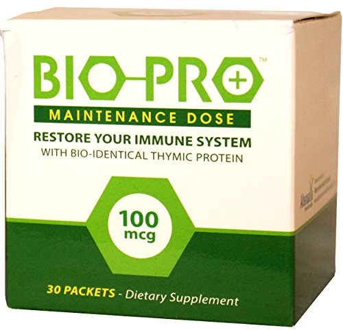 BioPro-Plus Immune Support Supplement with Zinc, Bioidentical Thymic Proteins Immune System Booster (100mcg Maintenance Dose) Nutritional Supplements, All Natural (90 Daily Dose Packets)