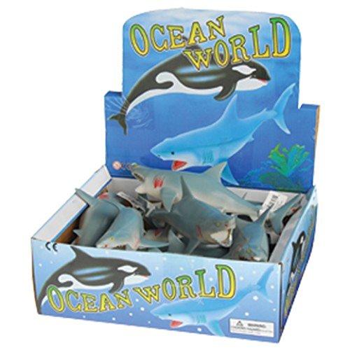 """Dozen Large Squeaky Great White Shark Bathtub Toys - 9.5"""""""