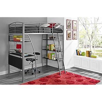Amazon Com Dorel Living Da6580w Harlan Loft Bed White