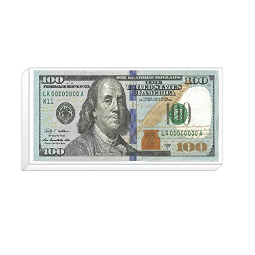 Rockin Gear Eraser New $100 Dollar Bill Ben Franklin Jumbo Pencil Eraser (Dollar Eraser)