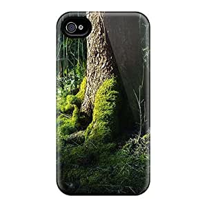 Hot Forest Tree First Grade Tpu Phone Case For Iphone 4/4s Case Cover