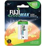 Fuji EnviroMAX Super Alkaline 9 Volt Eco Friendly Batteries (Pack of 8)
