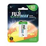 Fuji EnviroMAX Super Alkaline 9 Volt Eco Friendly Batteries (Pack of 12)