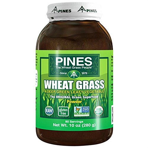 Pack of 4 x Pines International Wheat Grass Powder - 10 oz by Pines International