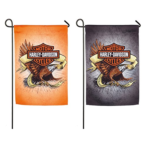 - Harley-Davidson Legendary Eagle Suede Double-Sided Garden Flag