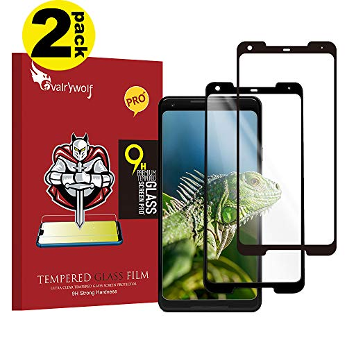 Screen Proetctor for Google Pixel 2 XL, Cavalrywolf [2-Pack] Premiun 3D Tempered Glass [Full Coverage] [Ultra Clear] [9H Hardness] [Anti-Scratch] [Bubble Free] Screen Protector for Google Pixel 2 XL