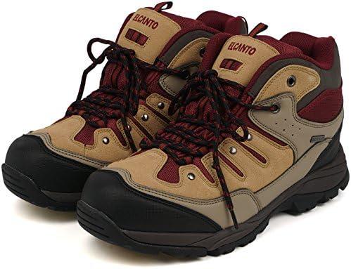エルカント ELCANTO ユニセックス 替え紐付き トレッキングシューズ 防水 登山靴 ミッドカット アウトドア メンズ レディース
