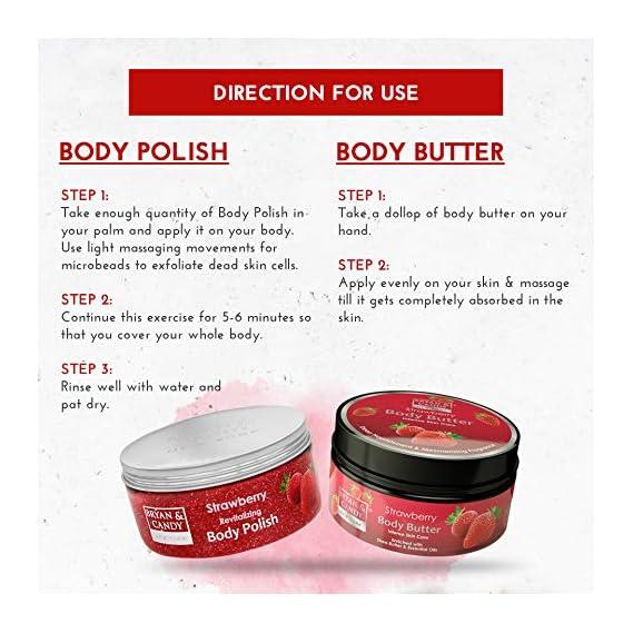 Bryan & Candy NewYork Body Polishing kit, Skin Care Combo, Strawberry Body Polish 100gm, Body Butter 100gm, SLS & Paraben free