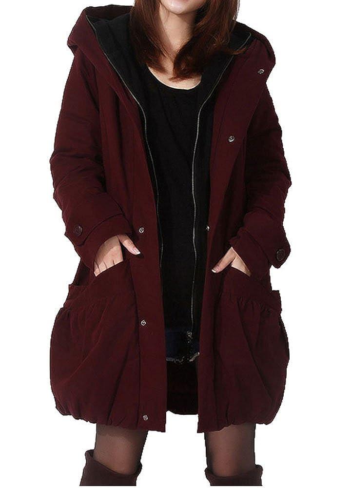 MatchLife Damen Zipper Jacket Hoodie Winter Warm Mantel