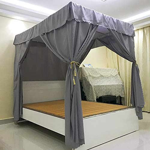 Top canopy bed curtains solid