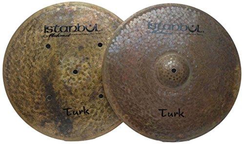 Istanbul Mehmet Cymbals Custom Series HHTH12 12-Inch Turk Flat Hole Bottom Hi-Hat Cymbals ()