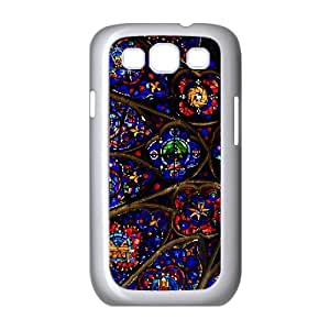 Pharrel Stained Glass Samsung Galaxy S3 Case Cathedrale Notre Dame De Reims Stained Glasses for Guys, Case for Samsung Galaxy S3 Mini for Men, [White]