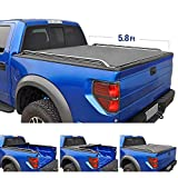Tyger Auto T2 Low Profile Roll-Up Truck Bed Tonneau Cover TG-BC2D2064 works with 2009-2018 Dodge Ram 1500 | Fleetside 5.8' Bed | For models without Ram Box