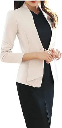 Maweisong Women's Long Sleeve Business Offcie Suit Dress Set