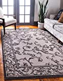 Cheap Unique Loom Outdoor Collection Traditional Botanical Transitional Beige Area Rug (5′ x 8′)