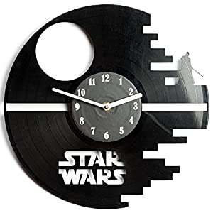 Star Wars Vinyl Wall Clock Cutout - Great Room Decor - Eco-friendly - Unique present for friends and family by secondlifeforvinyl