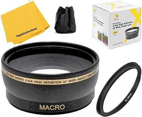 0.43x Wide Angle Lens For Nikon D3400 D5600 with Nikon AF-P 18-55mm Lens