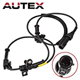 AUTEX ABS Wheel Speed Sensor Front Left/Right 6C3Z2C204BA ALS505 compatible with 2005 2006 2007 2008 2009 2010 Ford F-250 Super Duty F-350 Super Duty