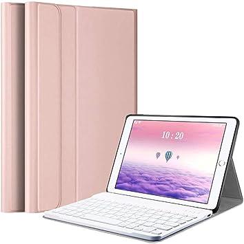 Funda con Teclado para iPad 10.2 2020(8ª Gen)-iPad 10.2 2019(7ª Gen)-iPad Air 3 10.5 2019-iPad Pro 10.5 2017 (Español Ñ), Carcasa con Soporte y ...