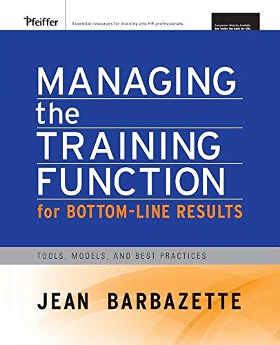 Managing Training Function...(Pb)