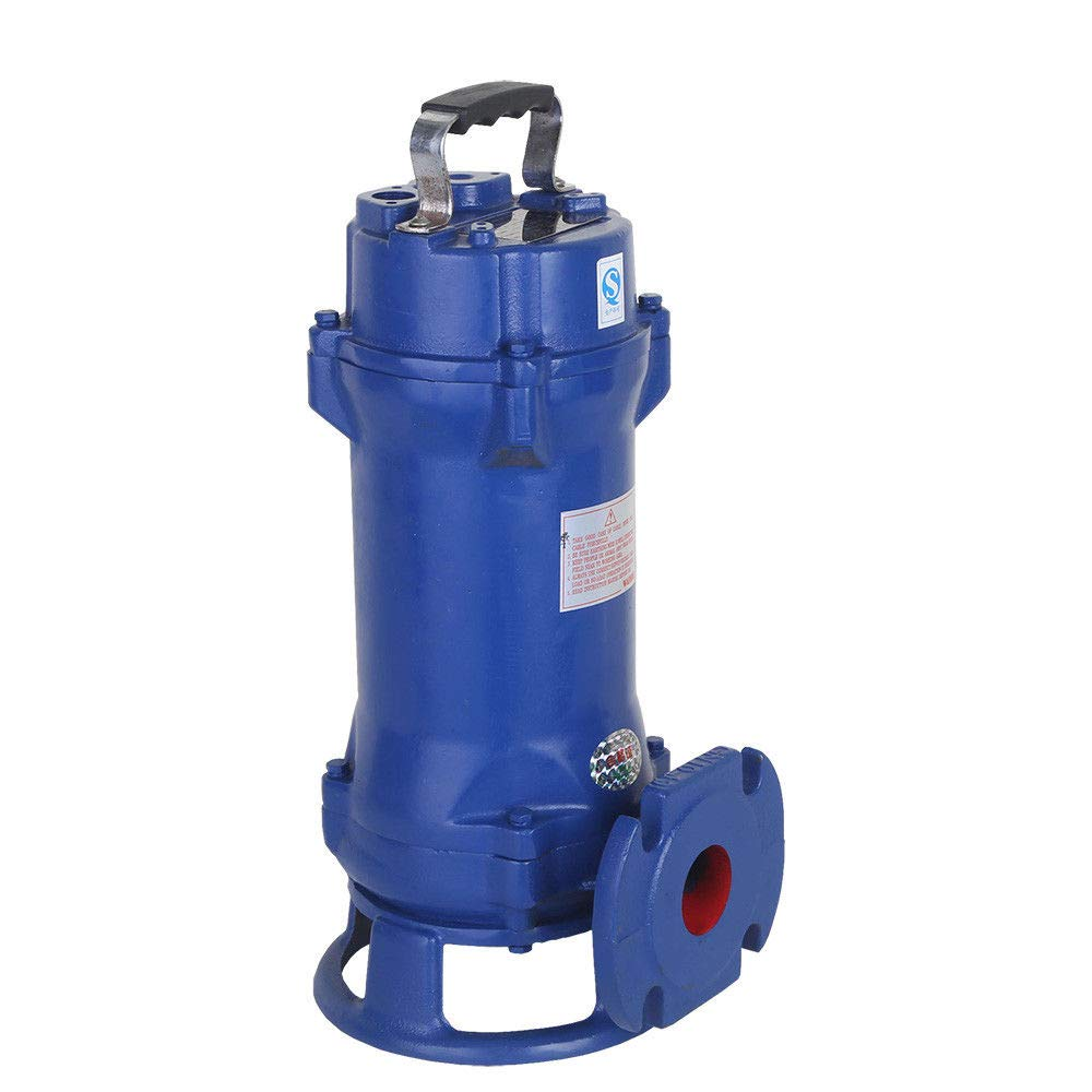 Submersible Sewage Pump 1.5HP Sewage Lift Pump 1.1KW 110V Industrial Cutting Sewage Water Sump Pump Cutter Grinder for Family Enterprise Garden Yard Sewage Discharges by MONIPA