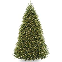 National Tree 9 Foot Dunhill Fir Tree with 900 Dual LED Lights and 9 Function Footswitch, Hinged (DUH-300D-90)