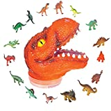 T-Rex Kids Toy Play Set by ArtCreativity - Includes 24 Mini Dinosaur Action Figures and Realistic Looking Tyrannosaurus Rex Head - Inodoor & Outdoor Use - Popular Children's Gifts and Learning Toys