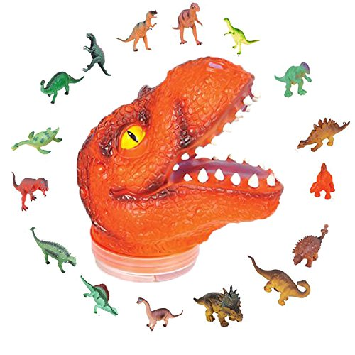 CranoRex Dino Creative Kit by ArtCreativity - Includes 24 Mini Dinosaur Figures in 7