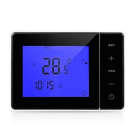 Termostato de calefacción de pared ajustable de la caldera 5A Termóstato de LCD de la temperatura