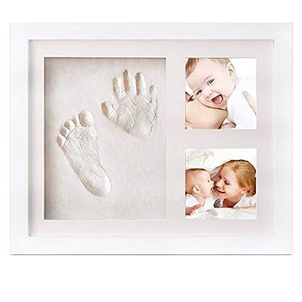 Marco de bebé Huella de mano Kit & Huella Kit de arcilla de imágenes ...