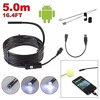Industrial Endoscope USB 3.0 MP CMOS HD Borescope Waterproof Inspection Camera Snake Camera for Samsung Galaxy