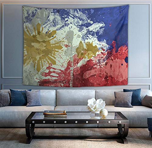 NiYoung Bohemian Mandala Hippie Hippy Decor Tapestries, Wall Hanging, Home Decor Art - Ink Art Philippines Flag Wall Tapestry, Living Room, Bedroom, Dorm Room Tapestries, Mattress -