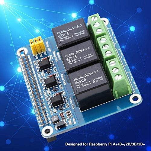 ZT-TTHG 中継拡張ボード、3チャンネルリレー拡張ボードラズベリーパイA + / B + / 2B / 3B / 3B +