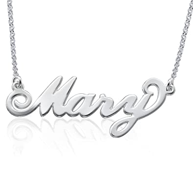 Amazon personalized name necklace in 925 sterling silver amazon personalized name necklace in 925 sterling silver custom made pendant with any name gift for her jewelry aloadofball Images