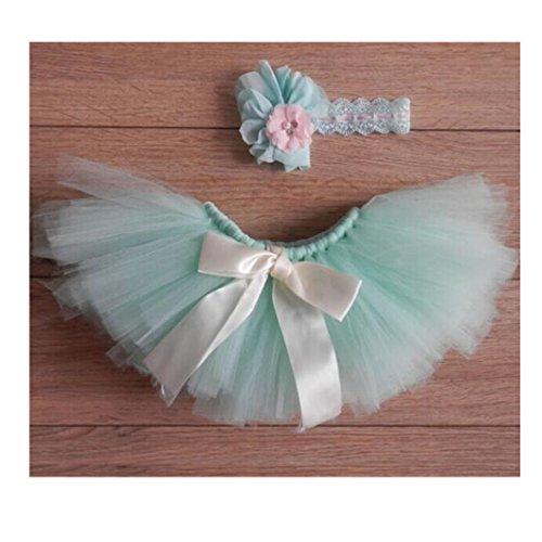 baby girl headband lace bowknot tutu skirts
