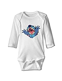 Lilo Stitch Character Hungry Funny Print Bodysuits Funny Baby Onesie Newborn Infant