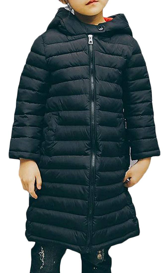 Etecredpow Boy Girl Hooded Puffer Outwear Down Jacket Packable Winter Parka Coat