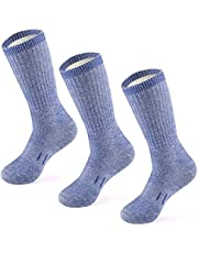 MERIWOOL Merino Wool Hiking Socks for Men and Women - 3 Pairs Midweight Cushioned - Warm n Breathable