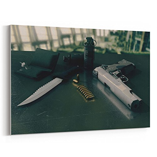 Westlake Art Weapon Knife - 12x18 Canvas Print Wall Art - Canvas Stretched Gallery Wrap Modern Picture Photography Artwork - Ready to Hang 12x18 Inch (FB65-2A50F)