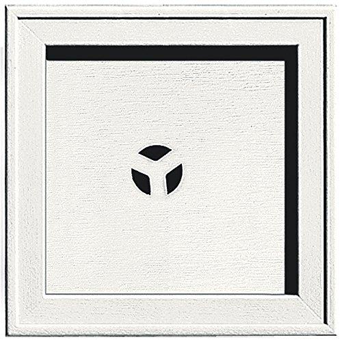 Builders Edge 130110004123 Recessed Square Mounting Block 123, White (Square Mounting Block)