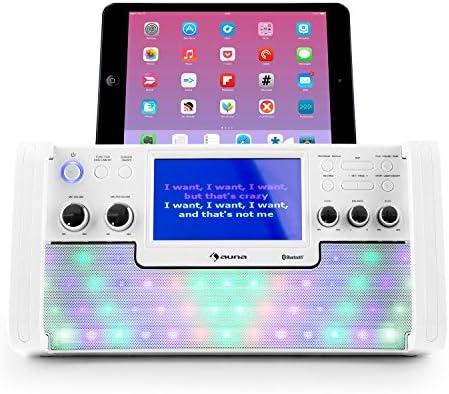 auna DiscoFever LED • karaoke • Set de karaoke • Bluetooth • pantalla TFT 7  pulgadas • 1 x micrófono dinámico • efectos LED • reproductor de CD+G •  puerto ... e9817f9bd49