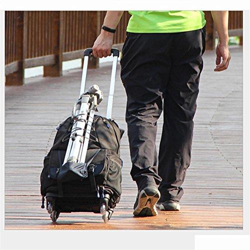 Portátil Multifunción 360 ° backpack De Polea Bkph Cámara mochila Ruedas Rotación 4 gZBTx