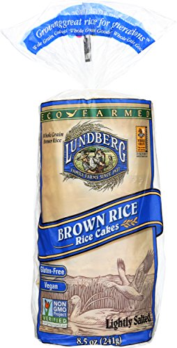 Lundberg Family Farms Brown Rice Cakes, Lightly Salted, 8.5 Ounce (Pack of 12)