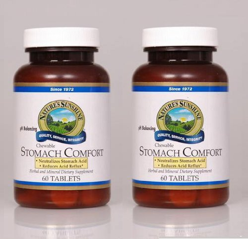 Nature's Sunshine Stomach Comfort 60 Chewable Tablets (Pack of 2)