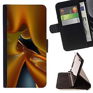 - Queen Pattern FOR Samsung Galaxy S6 EDGE /La identificaci????n del cr????dito ranuras para tarjetas tir????n de la caja Cartera de cuero cubie - yellow fluid dynamic glass 3d ar