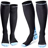 CAMBIVO Compression Socks for Women & Men, 2 Pairs(20 30 mmHg) (XXL (Women 12.5-16 / Men 11-15), Sports/Blue)