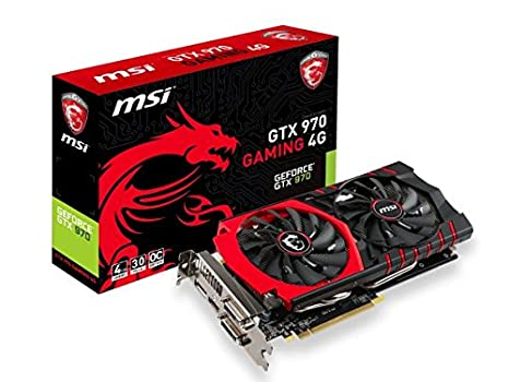wholesale dealer 52018 2e667 MSI NVIDIA GTX 970 Gaming Twin Frozr HDMI DVI-I DP Graphics Card (4GB, PCI  Express, DDR5, 256 Bit)  MSI  Amazon.co.uk  Computers   Accessories