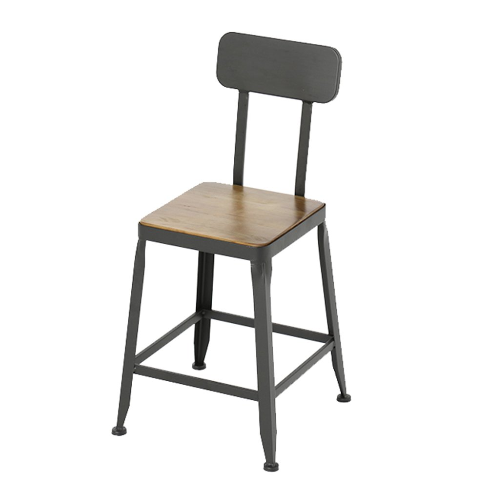 A 404071cm Chair - Fashion Personality Solid Wood bar high Stool Chair (color   B, Size   40  40  71cm)