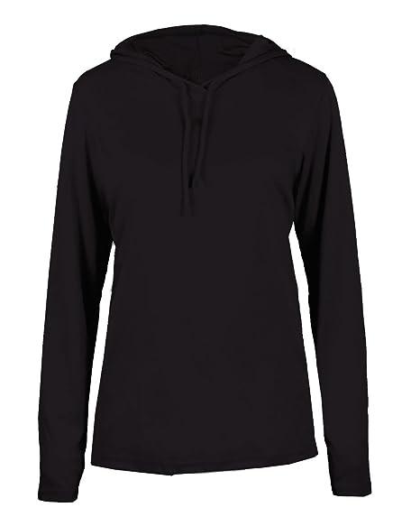 7bfcfde6927 Adult Black Long Sleeve B-Core 2X Performance Sports Hoodie Wicking T-Shirt